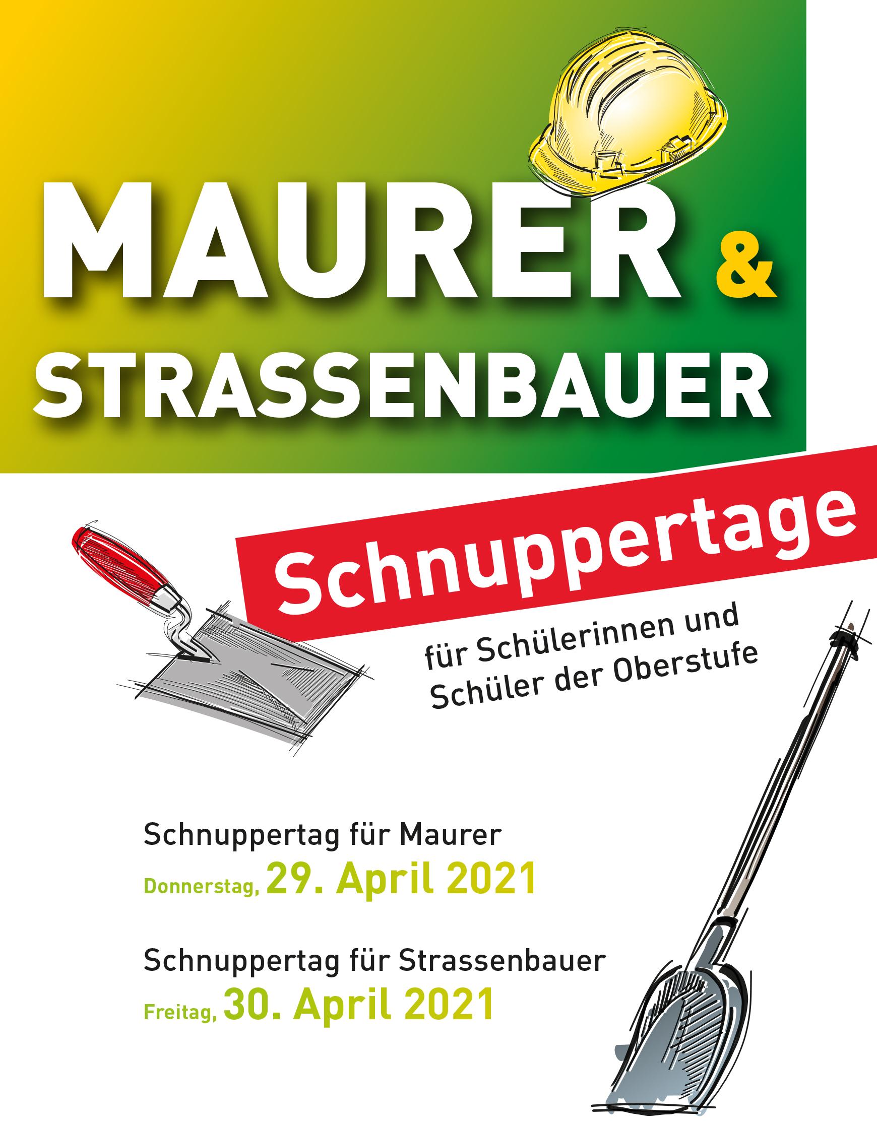 Schnuppertag Maurer und Strassenbauer